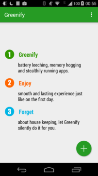 Aplikace Greenify