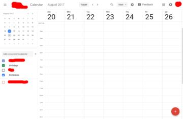 Google Calendar novy vzhled