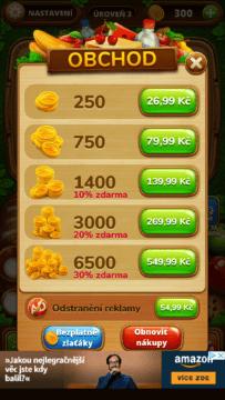 Nákupy v aplikaci Piknik slovo