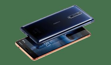 Nokia 8 konstrukce zadni strana