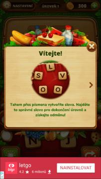 Průvodce ovládáním hry Piknik slovo