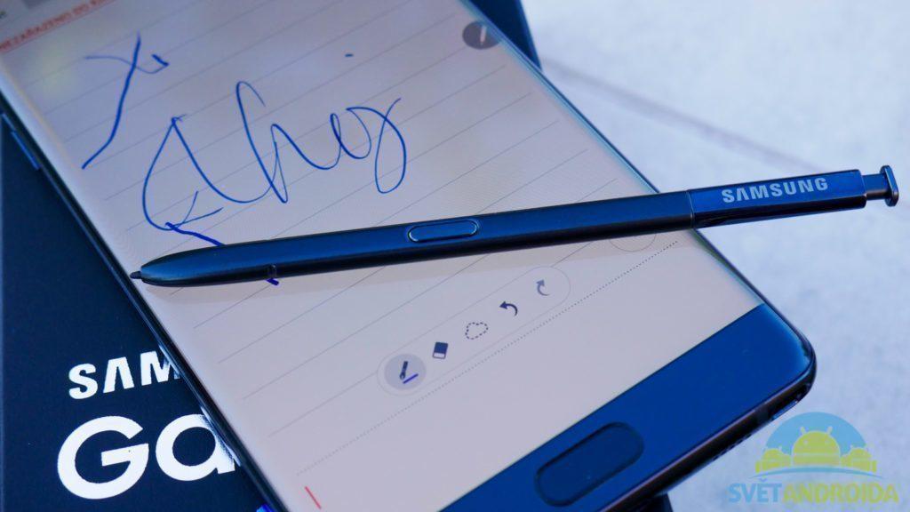 Samsung Galaxy Note 7 - konstrukce, S-Pen