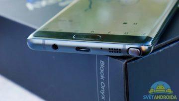 Samsung Galaxy Note 7 – konstrukce, USB-C, reproduktor