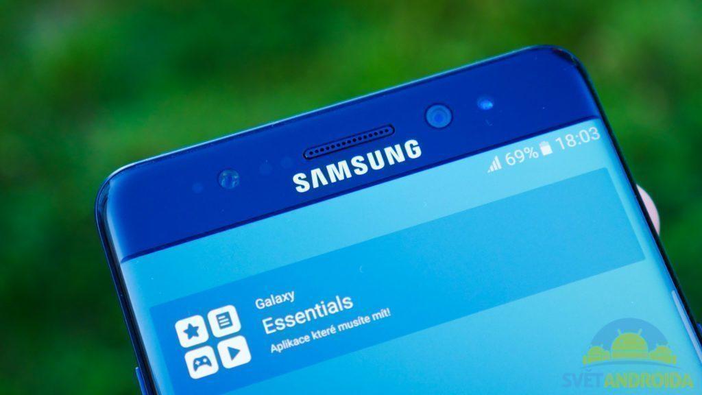 Samsung Galaxy Note 7 - konstrukce, senzor duhovky
