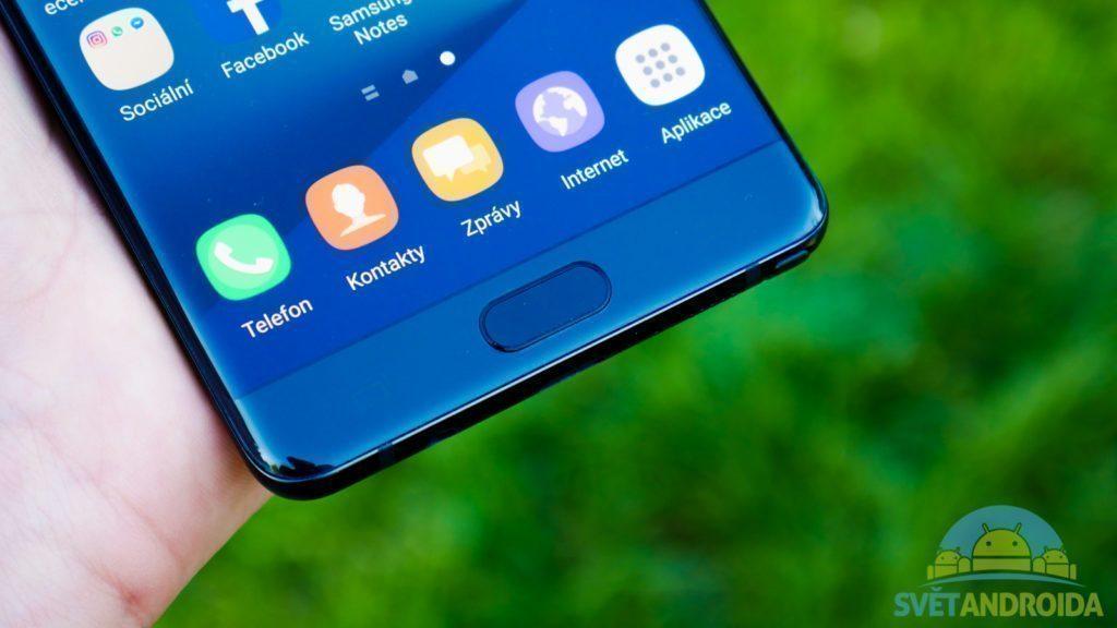 Samsung Galaxy Note 7 - konstrukce, tlačítko
