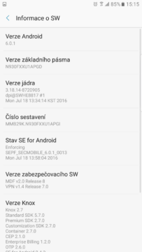 Samsung Galaxy Note7 – system Android, TouchWiz 7