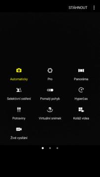 Samsung Galaxy Note7 – system Android, aplikace fotoaparatu 3