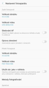 Samsung Galaxy Note7 – system Android, aplikace fotoaparatu 4