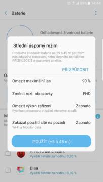 Samsung Galaxy Note7 – vydrz baterie a rezimy 3