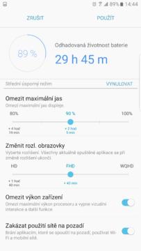 Samsung Galaxy Note7 – vydrz baterie a rezimy 4
