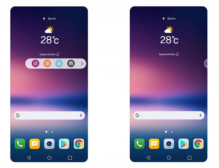 Telefon LG V30 nove UI