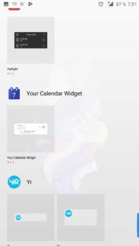 Výběr widgetu
