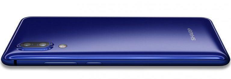 Bezrámečkový SHARP AQUOS S2 v modré