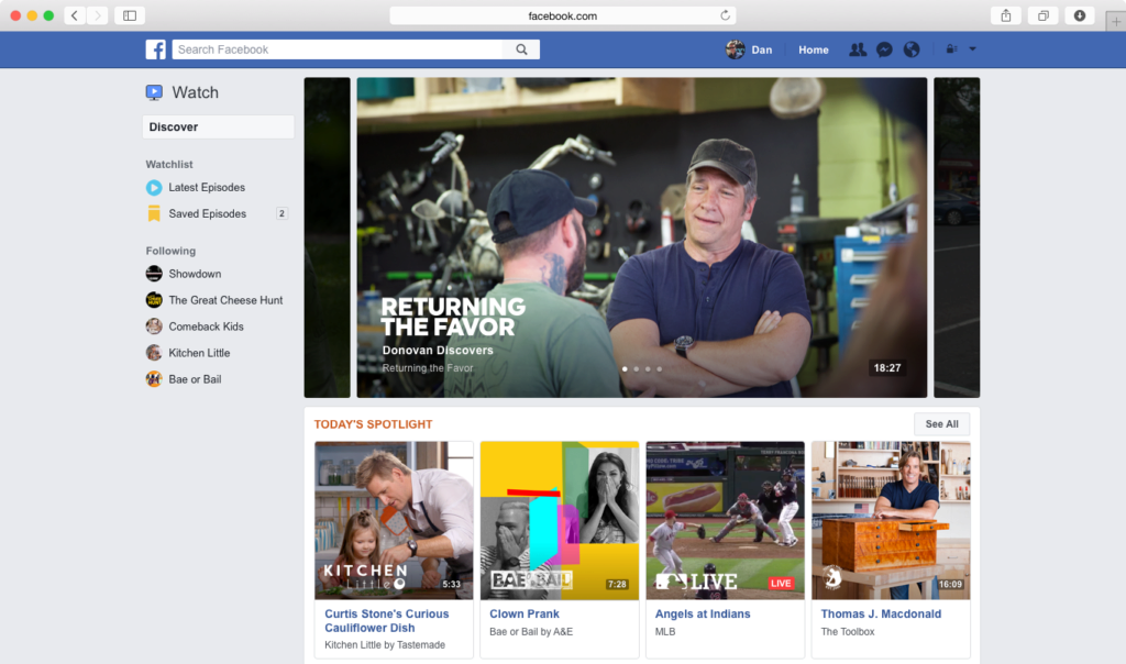 facebook watch videa na webu