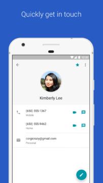 kontakty google aplikace