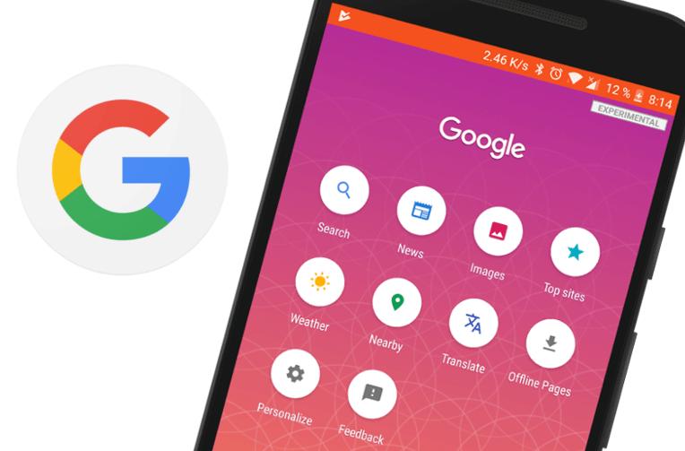 nenarocne vyhledavani Google Search Lite