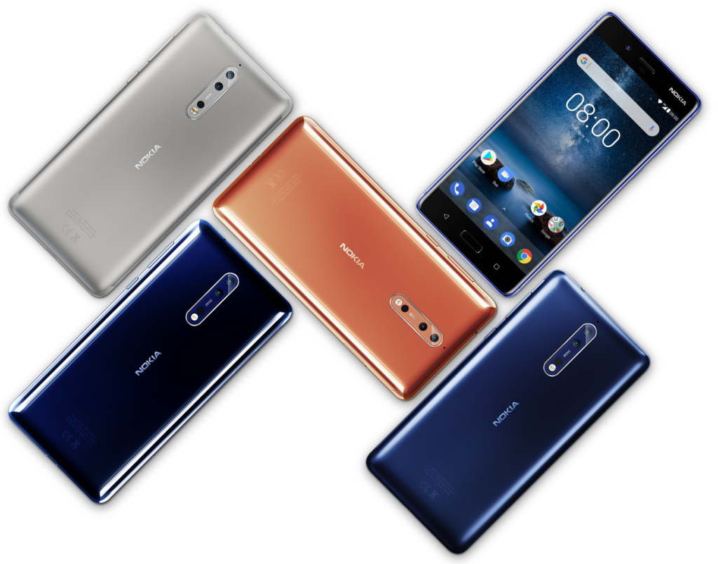 smartphone Nokia 8 barvy dualni fotoaparat