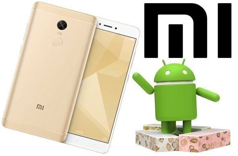 smartphone redmi note 4x android 7 nougat