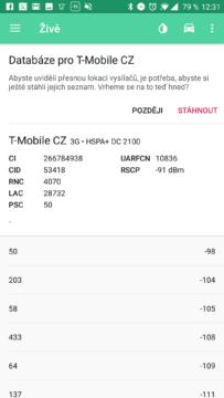 NetMonster - stažení databáze BTS