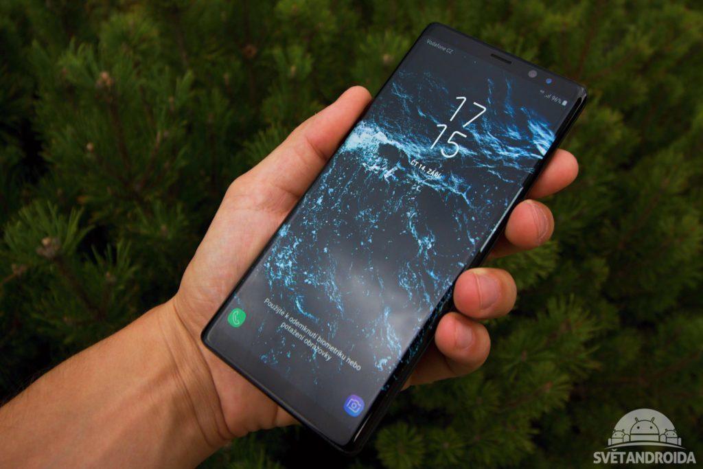 Samsung Galaxy Note 8 čelní strana