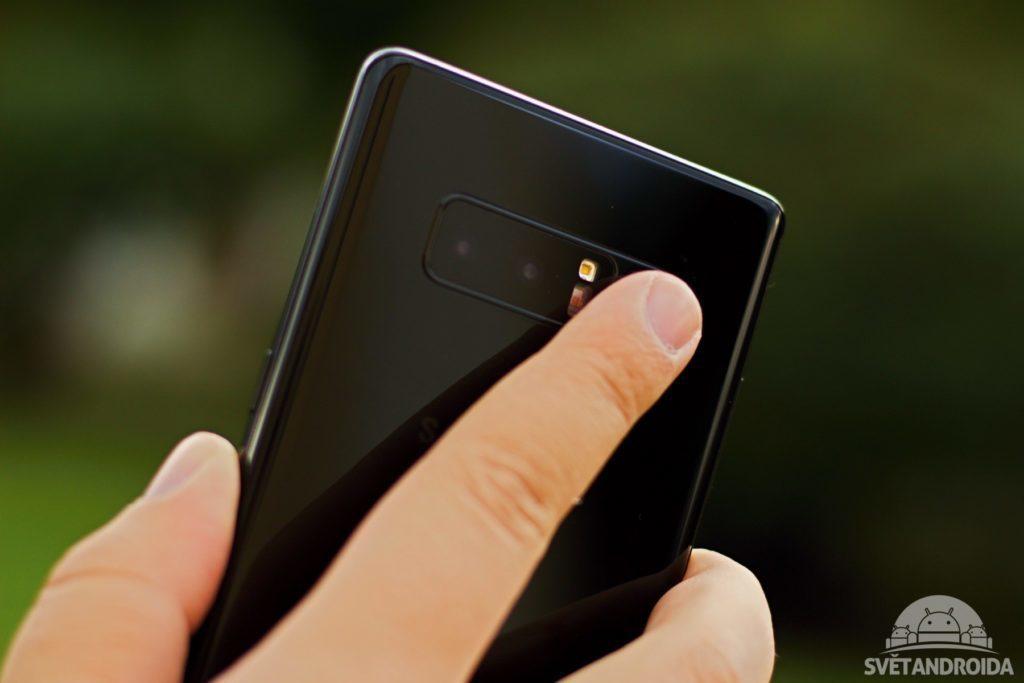 Samsung Galaxy Note 8 čtečka otisků