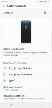 Samsung Galaxy Note 8 osvětlení okraje