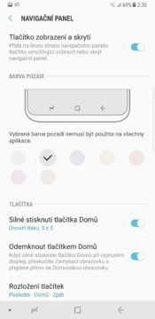Samsung Galaxy Note 8 spodní panel