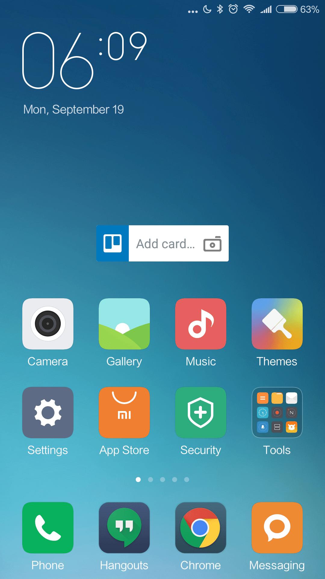Bleskov½ chod systému Xiaomi Redmi Note