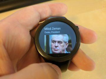 cesky prezident na hodinkach