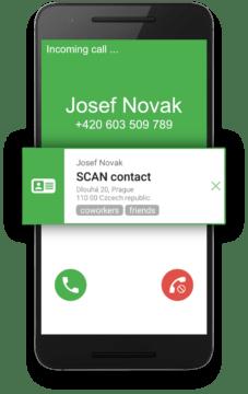 CONTACT details - volající