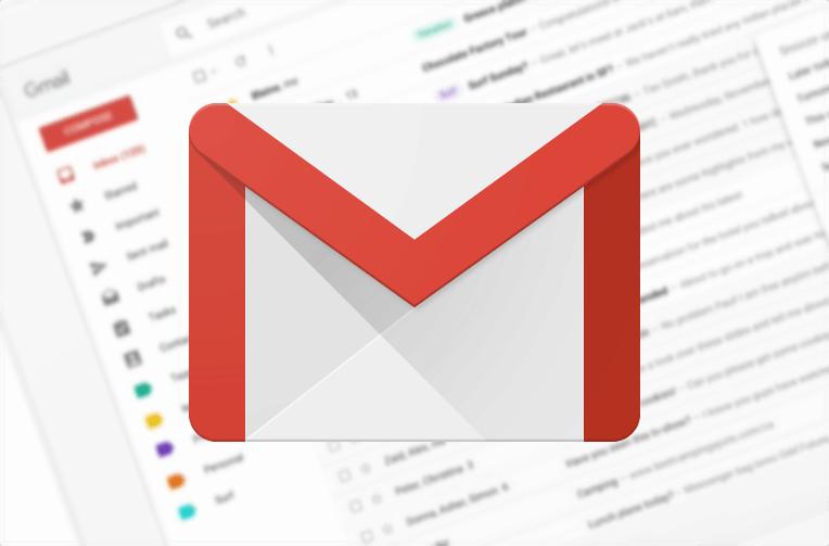 gmail na webu material design
