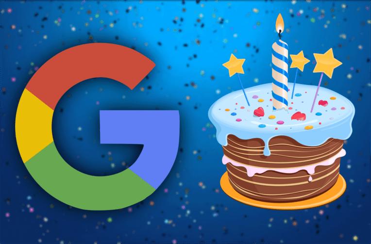 google oslavil narozeniny 19 let