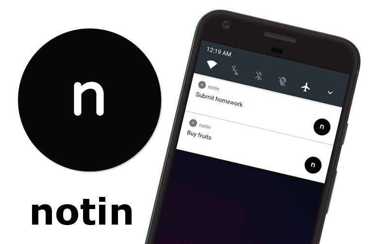 Ukládejte poznámky jako notifikace s aplikací Notin