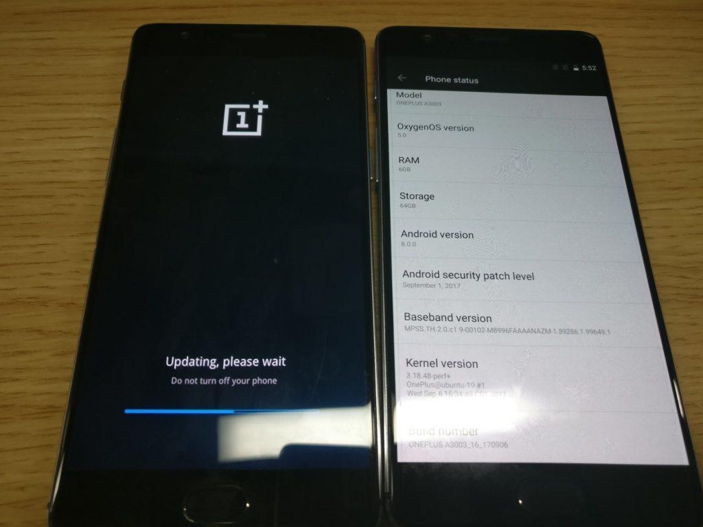 oneplus 3 android 8 oreo