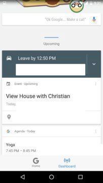 Kontextové informace v sekci Dashboard