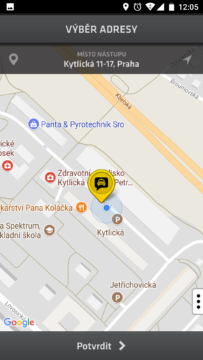 Modry andel-taxi praha-android-2