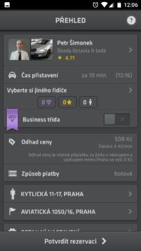 Modry andel-taxi praha-android-3