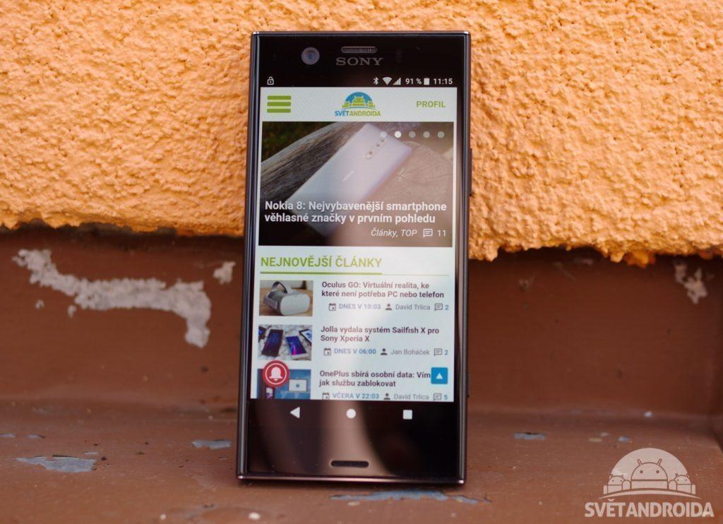 Sony Xperia XZ1 Compact displej