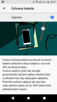 Sony Xperia XZ1 Compact ochrana baterie