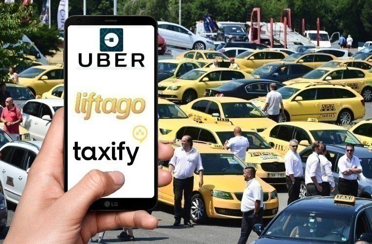 Taxi stávkuje v Praze