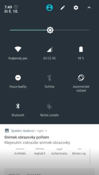 Telefon Xiaomi MI A1-system- notifikacni lista (1)