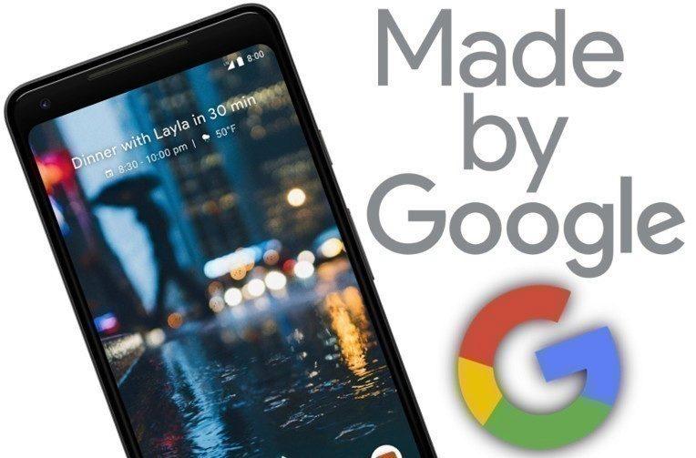 google pixel 2 xl 4 rijen