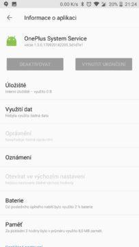 oneplus system service osobni data