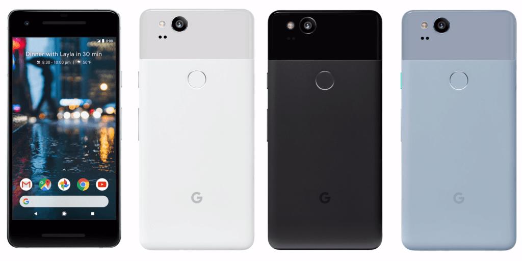 pixel 2 telefony predni strana