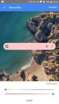 uprava widgetu vyhledavani