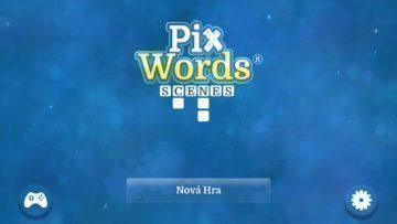 Úvodní obrazovka PixWords Scenes