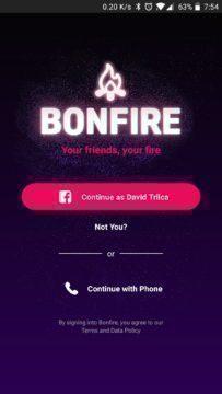 Bonfire Facebook videohovory aplikace (1)
