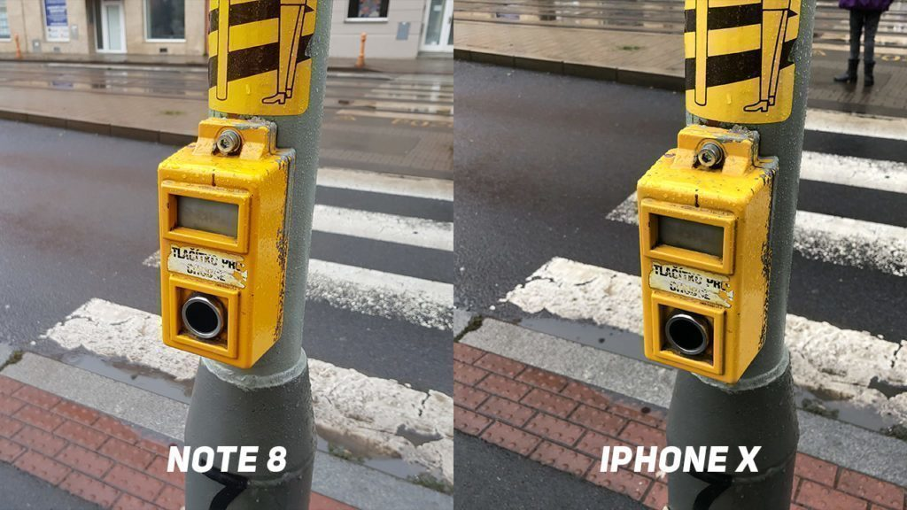 Foto test Samsung Galaxy Note8 vs. Apple iPhone X-tlacitko-1