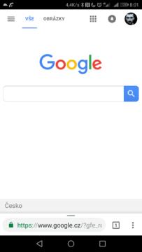 Google mobilni verze zakulaceny design