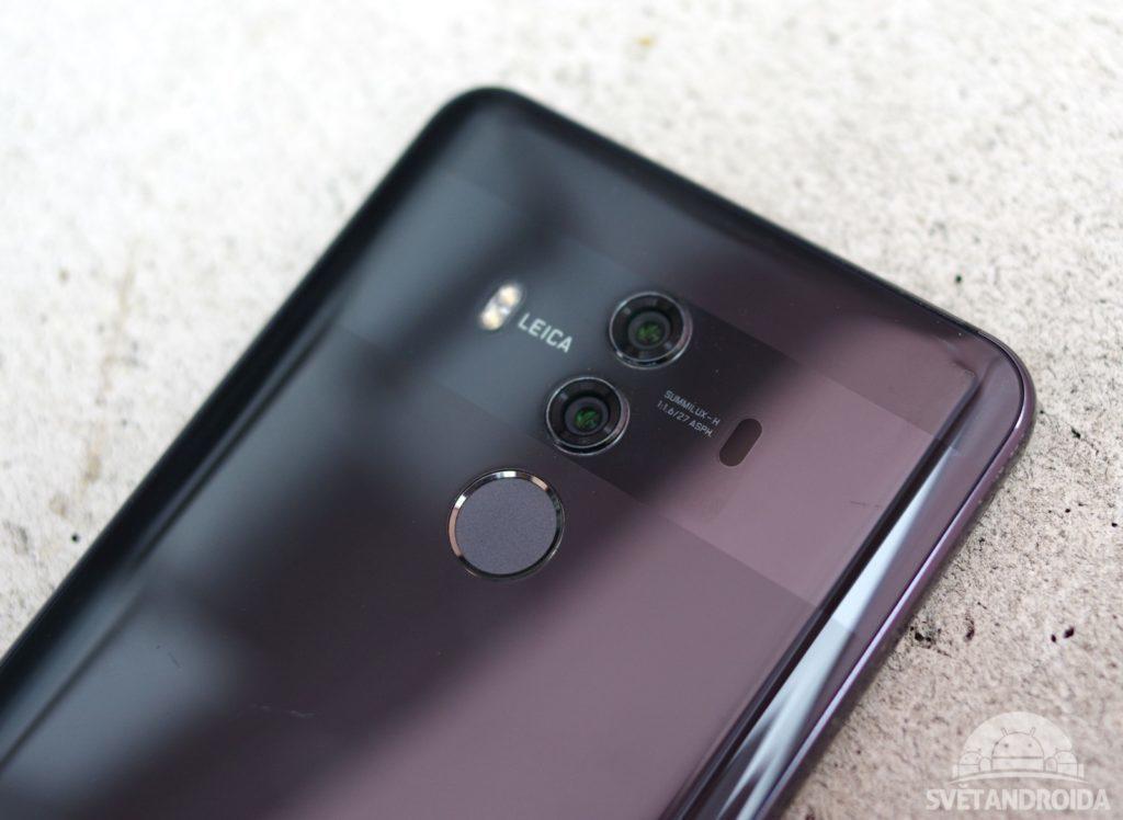 Huawei Mate 10 Pro čtečka